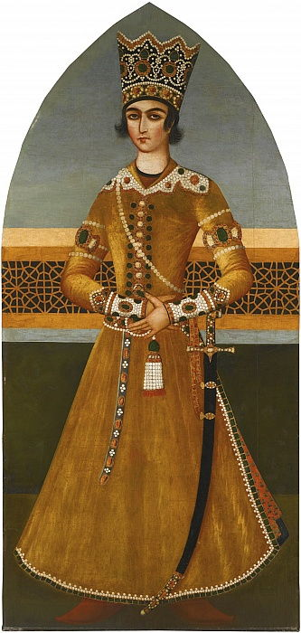 Portrait of Prince Abbas Mirza by Mihr Ali