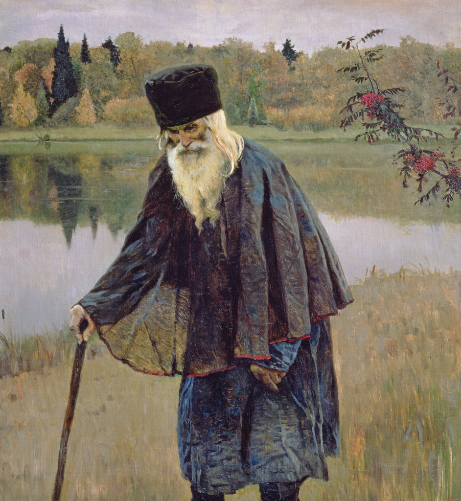 The Hermit, 1888  by Mikhail Vasilievich Nesterov