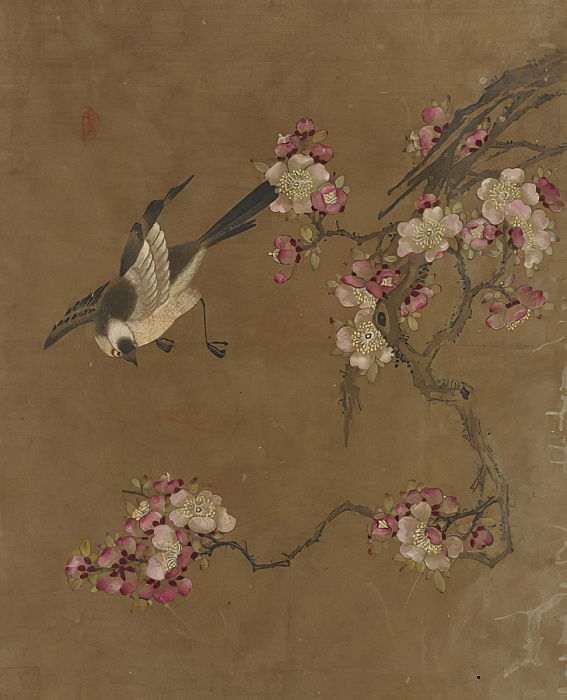 Ten pictures of birds and flowers (colour on silk) by Ming Dynasty Chinese School
