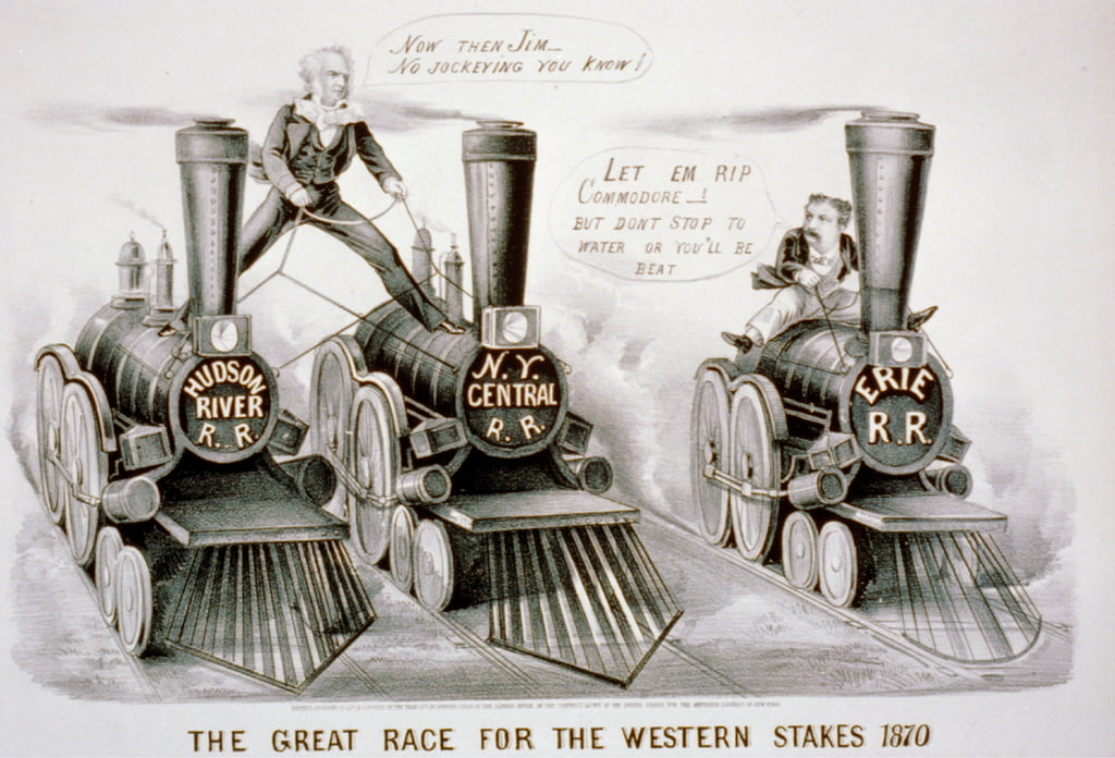 The Great Race for the Western Stakes, 1870  (lithograph) by N. and Ives, J.M. Currier