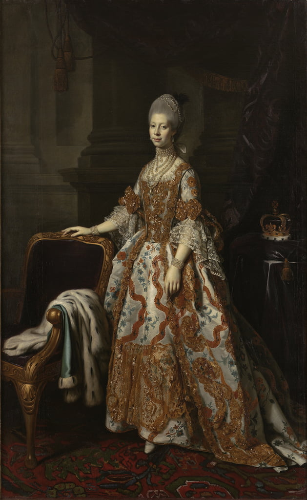 Portrait of Queen Charlotte of Mecklenburg-Strelitz  by Nathaniel Dance Holland