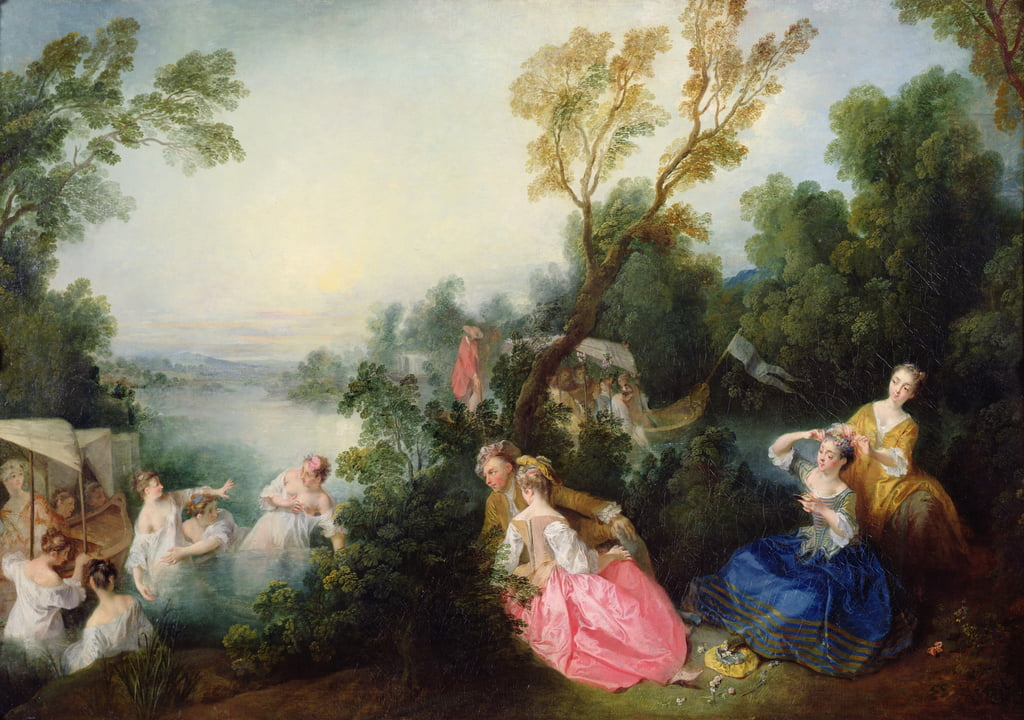 The Pleasures of Bathing  by Nicolas Lancret