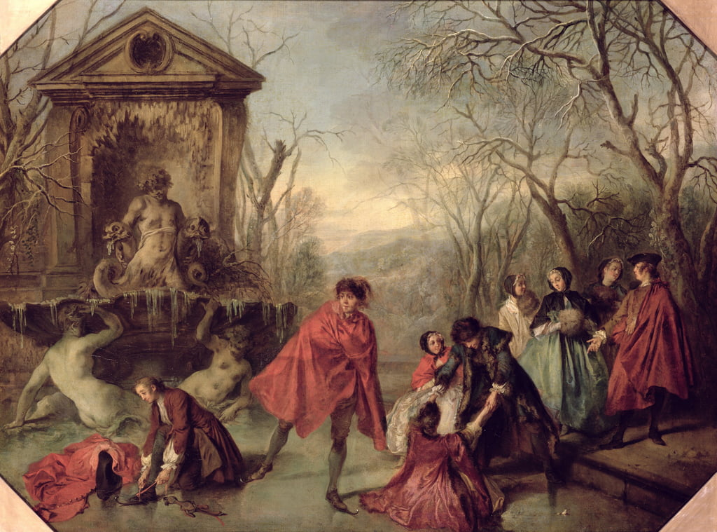 Winter, 1738  by Nicolas Lancret
