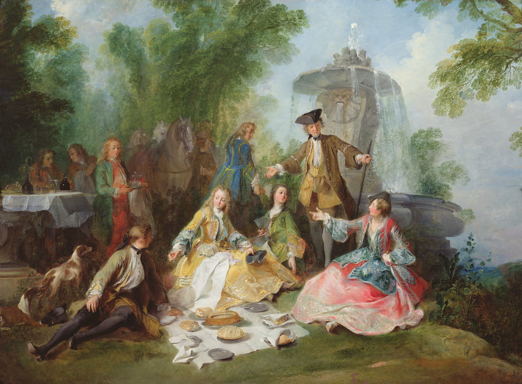 The Hunting Party Meal, c. 1737  by Nicolas Lancret