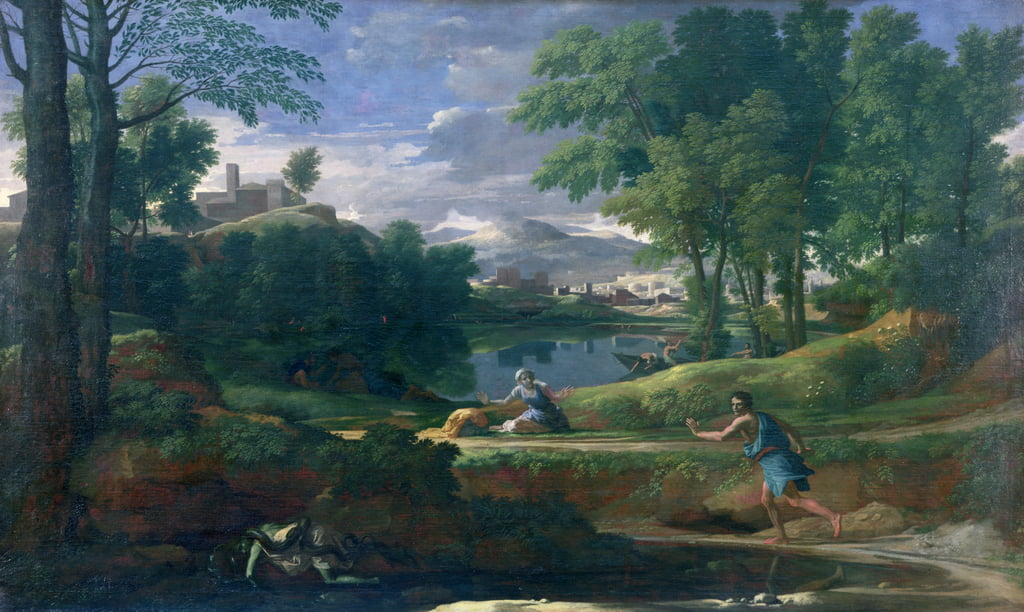Landscape with a Man killed by a Snake, c.1648  by Nicolas Poussin