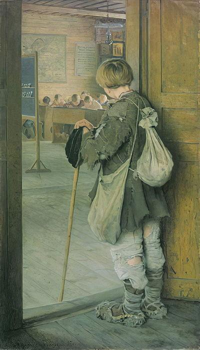 An der Schulschwelle von Nikolai Petrovich Bogdanov Belsky