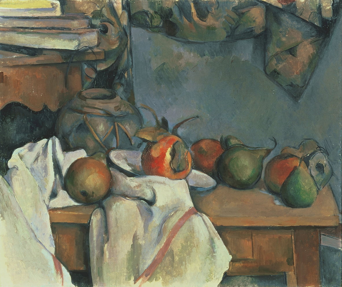 Ginger Pot with Pomegranate and Pears by Paul Cézanne