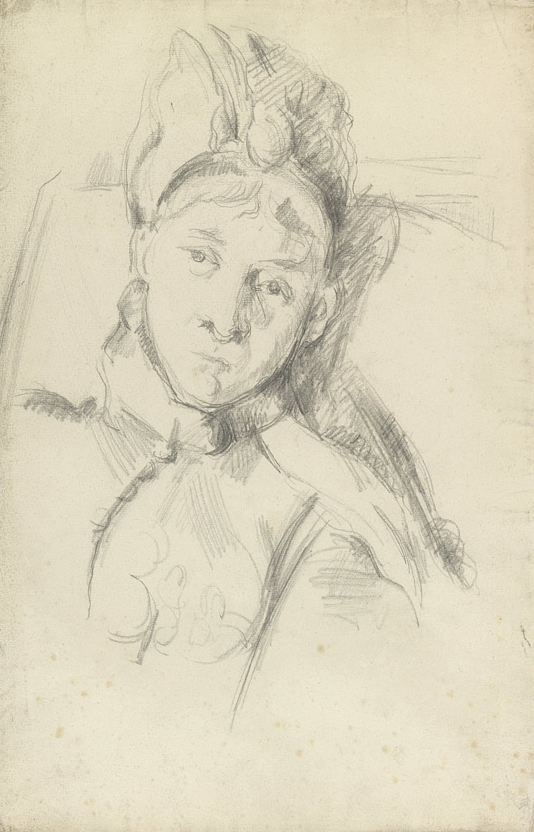 Portrait of Hortense Cézanne-Figuet, the Artists Wife by Paul Cézanne