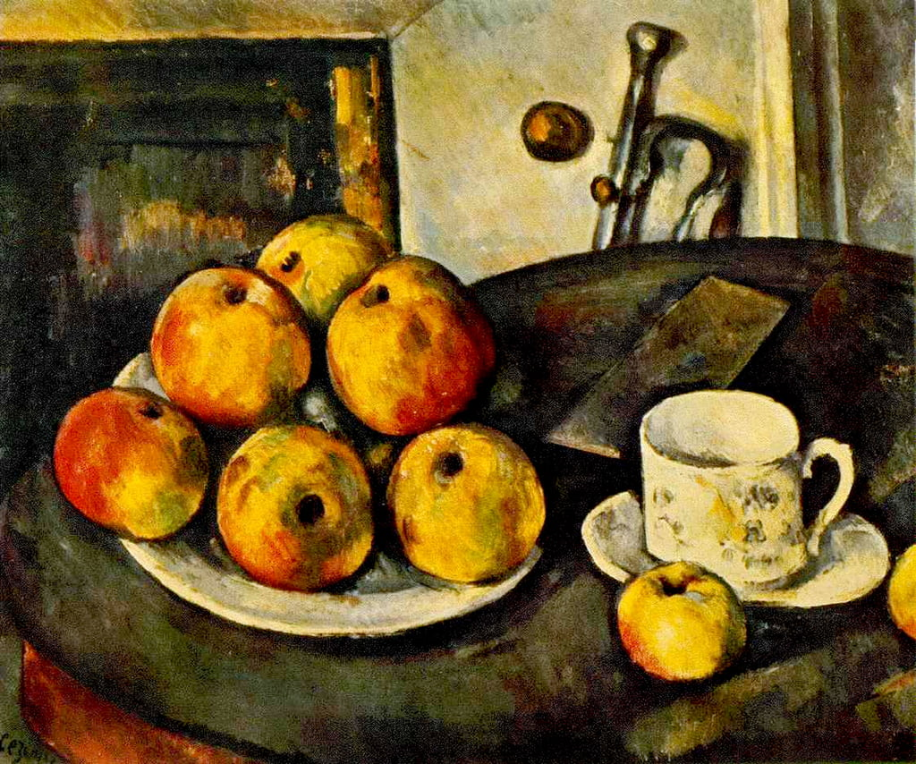 Still Life with Apples and a Cup, 1890-94  by Paul Cézanne