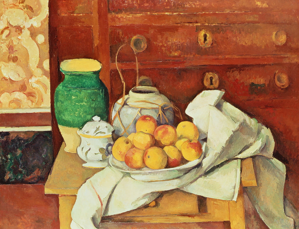 Still Life with a Chest of Drawers, 1883-87  by Paul Cézanne