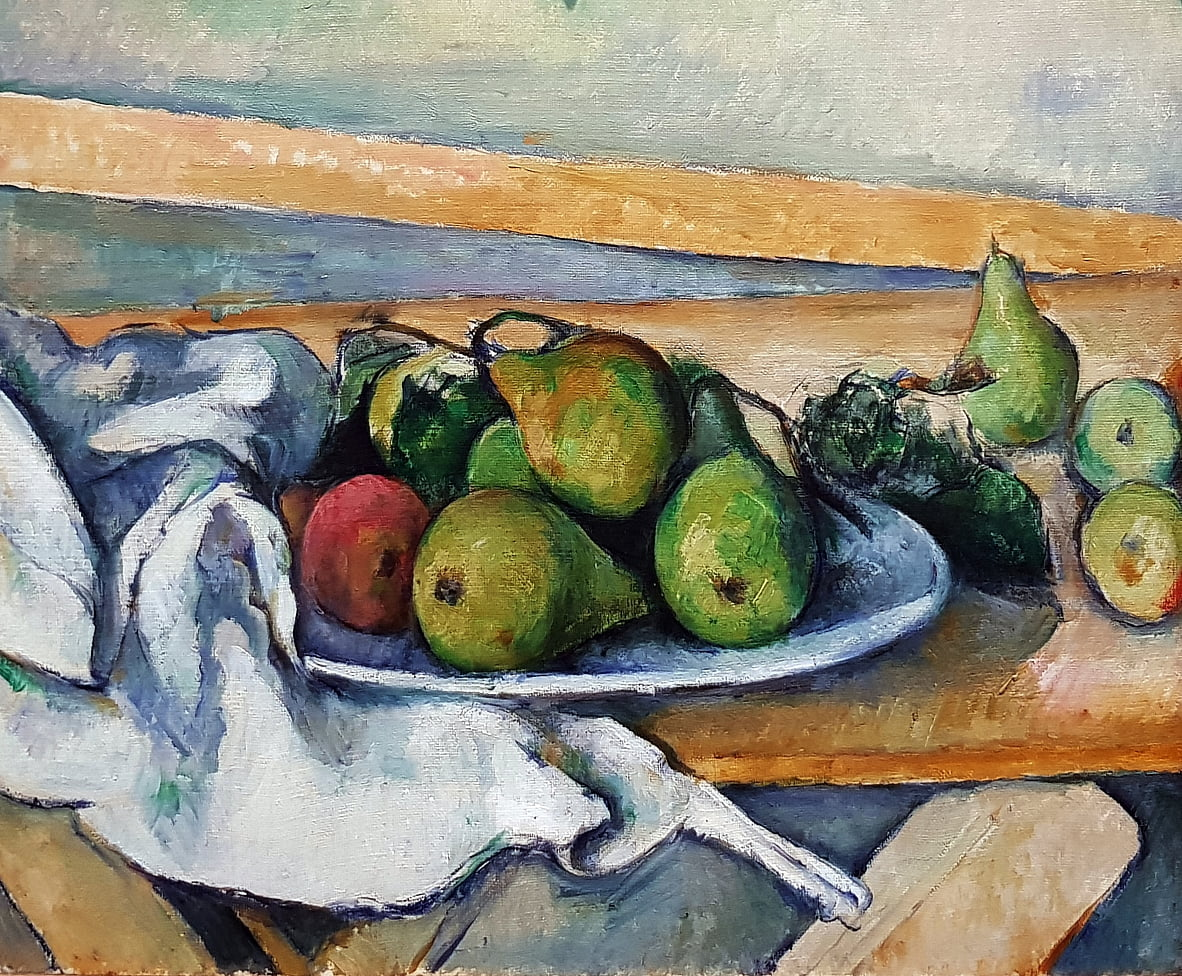 Still life with pears by Paul Cézanne