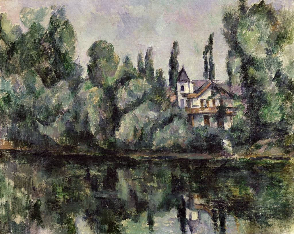 The Banks of the Marne, 1888  by Paul Cézanne