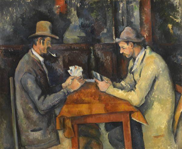 The Card Players,1893-6  by Paul Cézanne