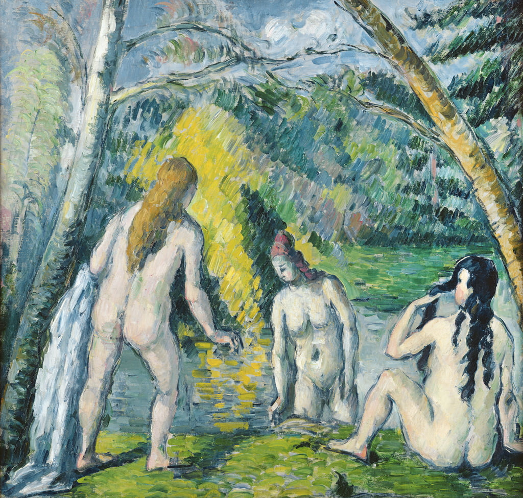 The Three Bathers, c.1879-82  by Paul Cézanne