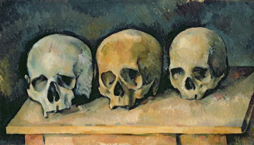 The Three Skulls, c.1900  by Paul Cézanne