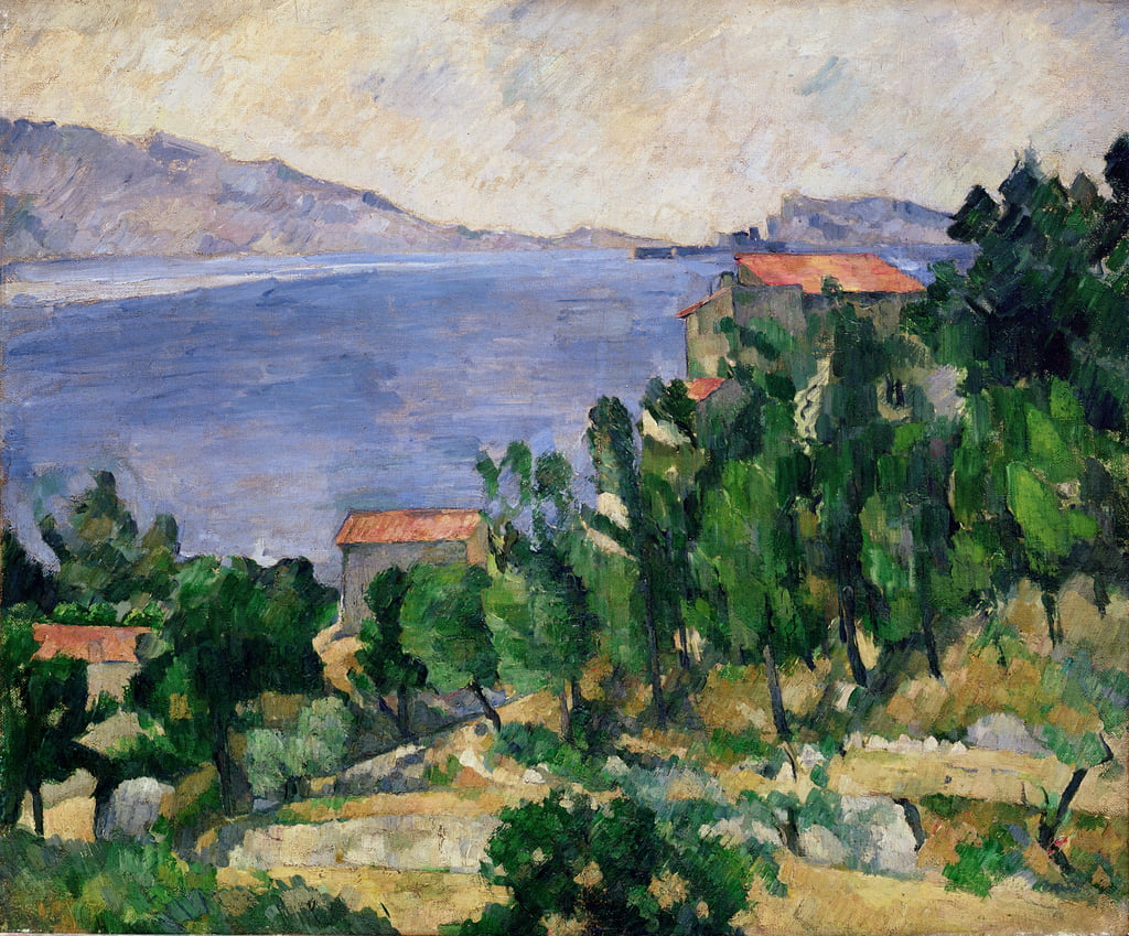 View of Mount Marseilleveyre and the Isle of Maire, c.1882-85  by Paul Cézanne