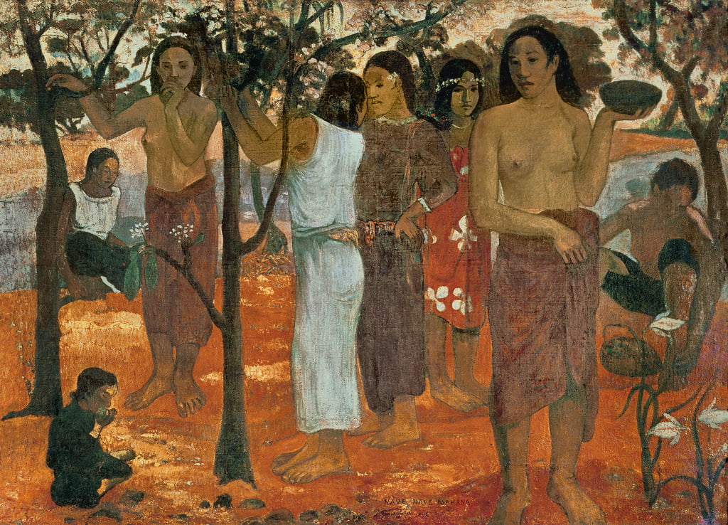 Nave Nave Mahana (Delicious Day), 1896  by Paul Gauguin