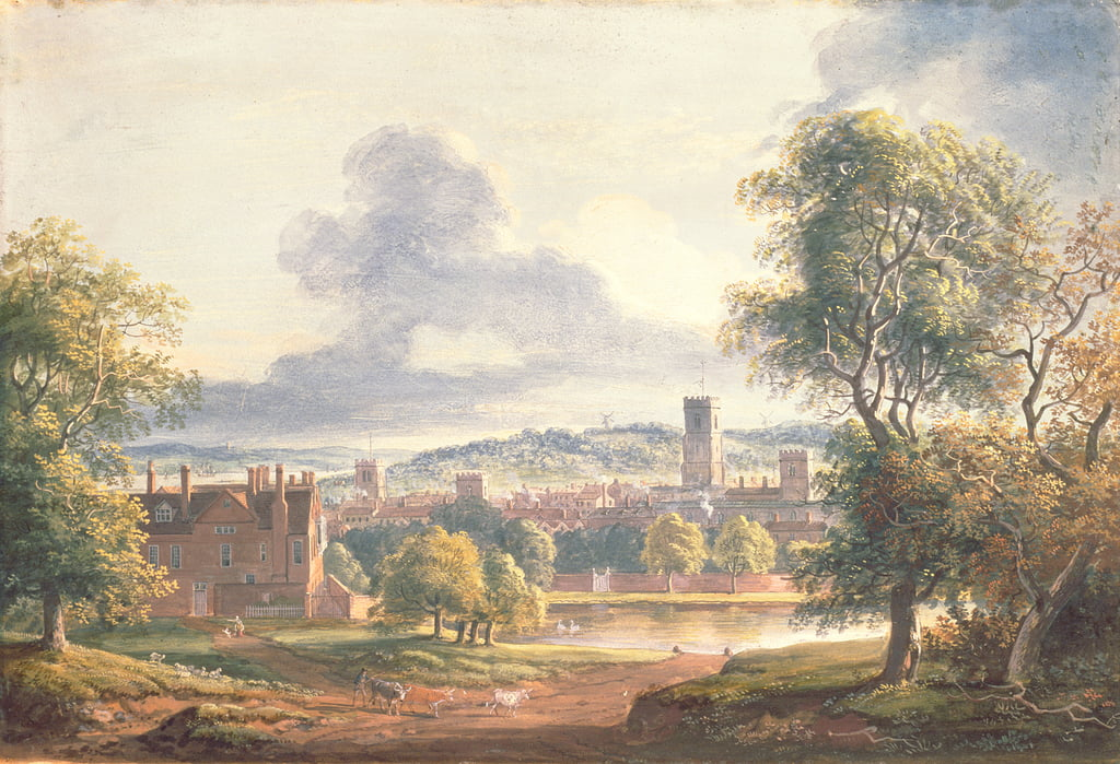 A View of Ipswich (wc, gouache on paper) by Paul Sandby