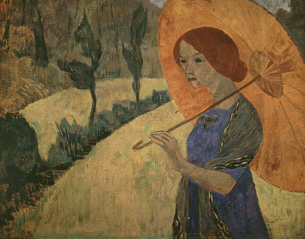 Madame Serusier with a Parasol, 1912  by Paul Sérusier