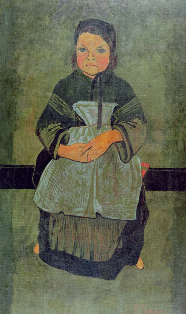 Seated Breton Child, 1895  by Paul Sérusier