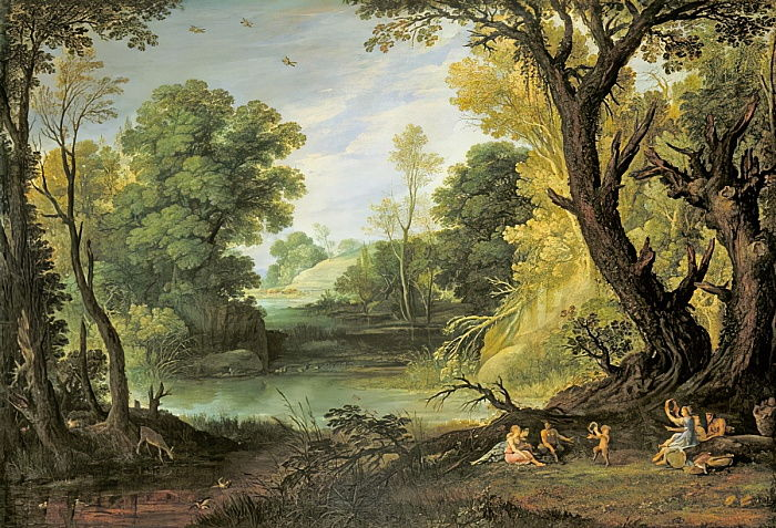 Landscape with Nymphs and Satyrs, 1623  by Paul Brill or Bril