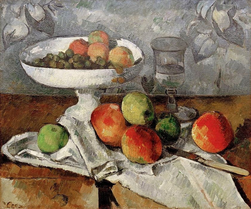 Nature morte au compotier by Paul Cézanne