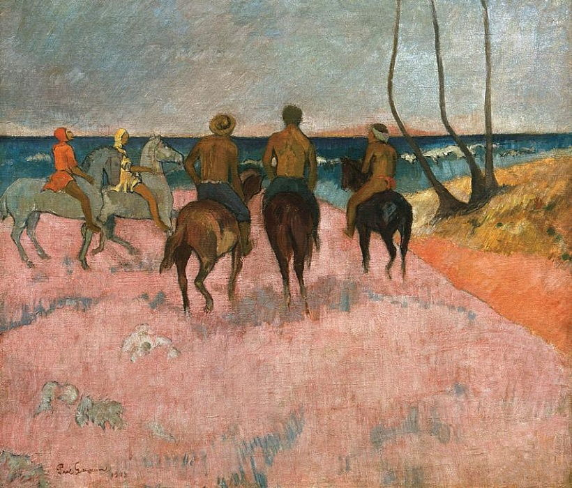 Reiter am Strand by Paul Gauguin