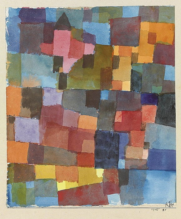 Room Architectures On Cold-Warm, 1915. by Paul Klee