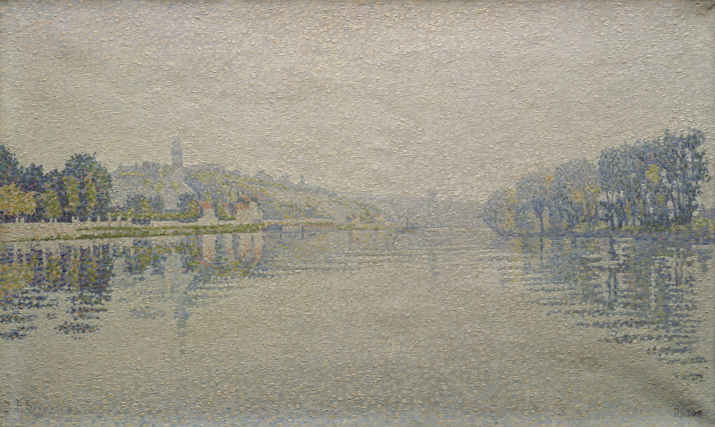View of the Seine at Herblay, 1889 by Paul Signac