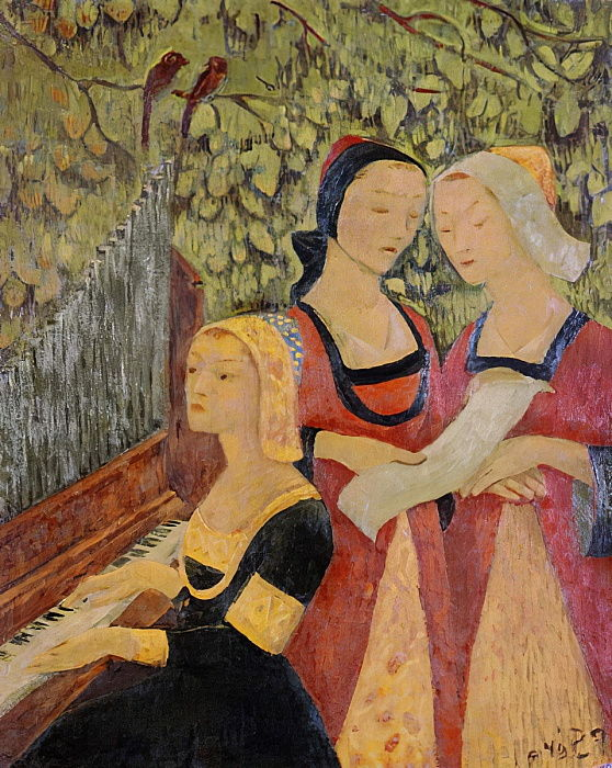 Breton Women (oil) by Paul Sérusier