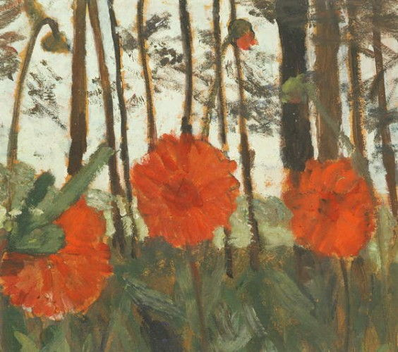Poppies on the Edge of a Wood  by Paula Modersohn Becker