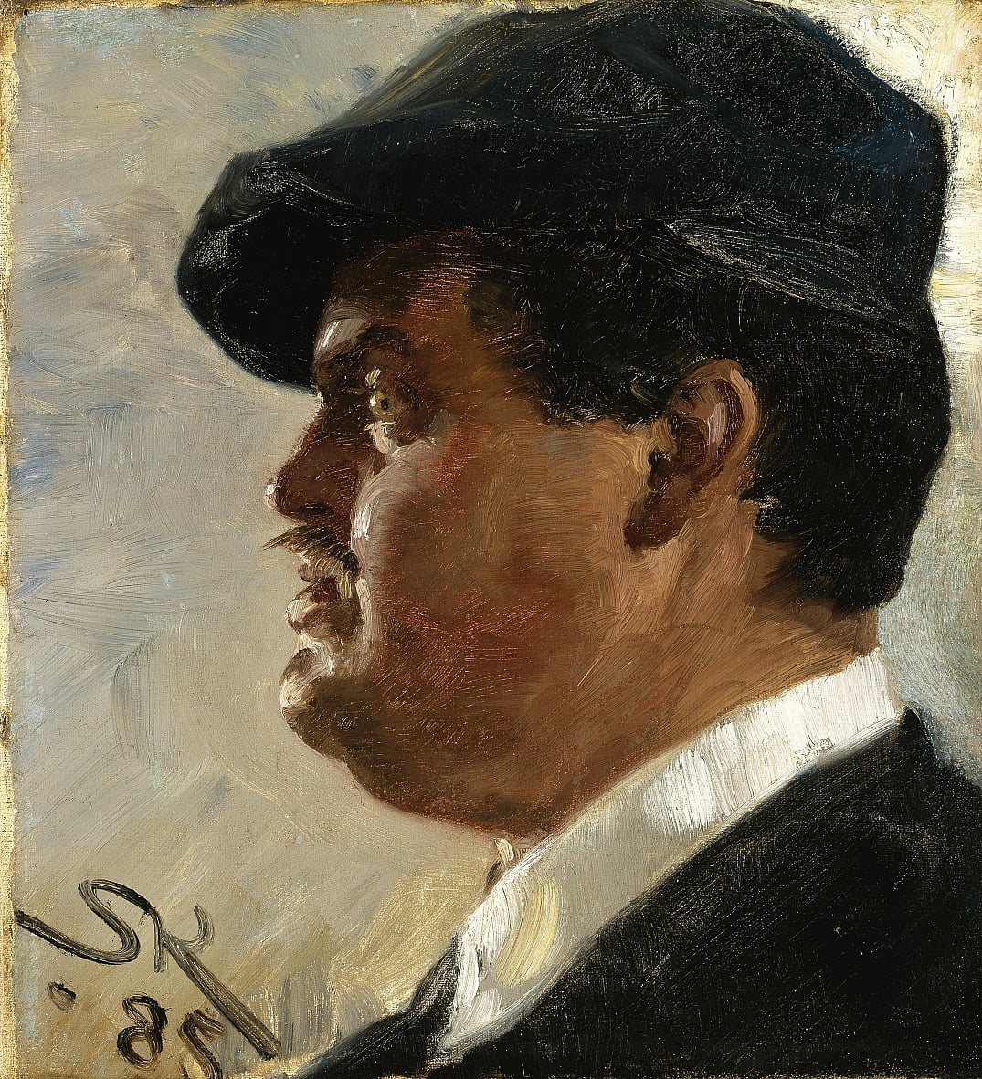 Carl Locher by Peder Severin Krøyer