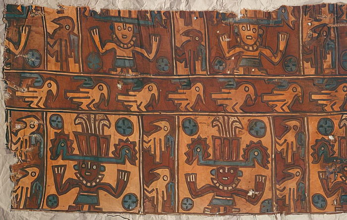 Cloth with gods and birds, Tiahuanaco Culture (textile) by Peruvian School