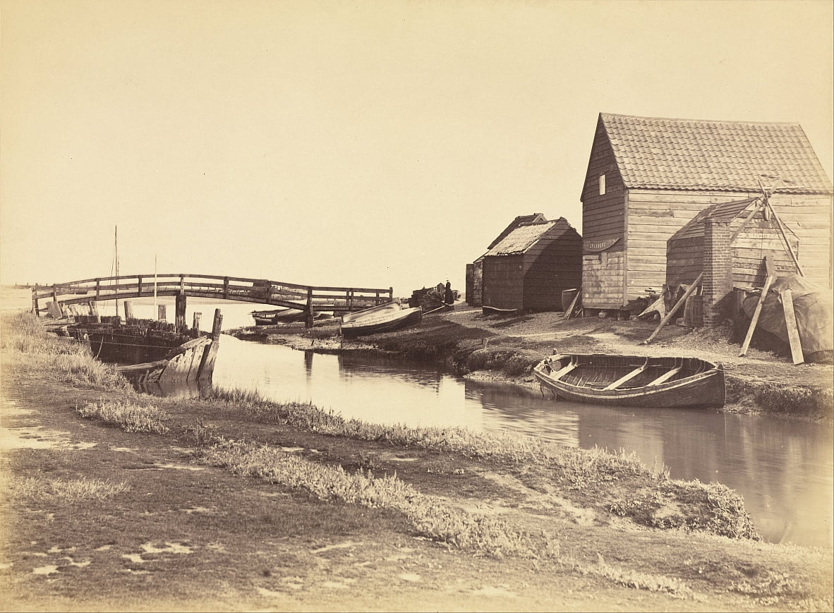 Tidal Creek and Old Warehouses South of Southwold, Suffolk by Peter Henry Emerson