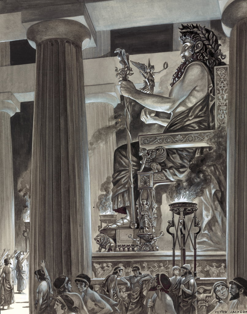 Statue of Zeus at Olympia  by Peter Jackson