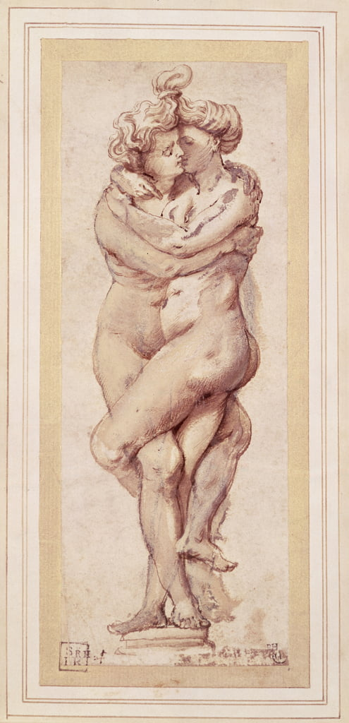 Embracing Couple (drawing) by Peter Paul Rubens