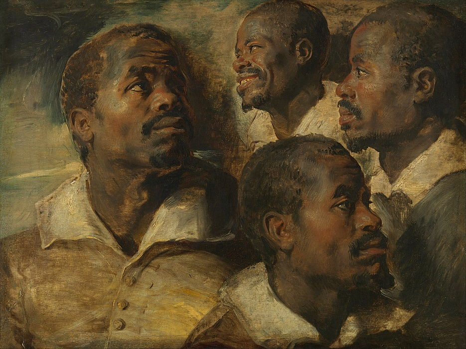 Four Studies of a Head of a Moor by Peter Paul Rubens