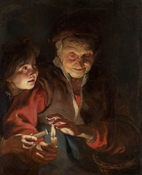 Old Woman and Boy with Candles, c.1616-1617  by Peter Paul Rubens