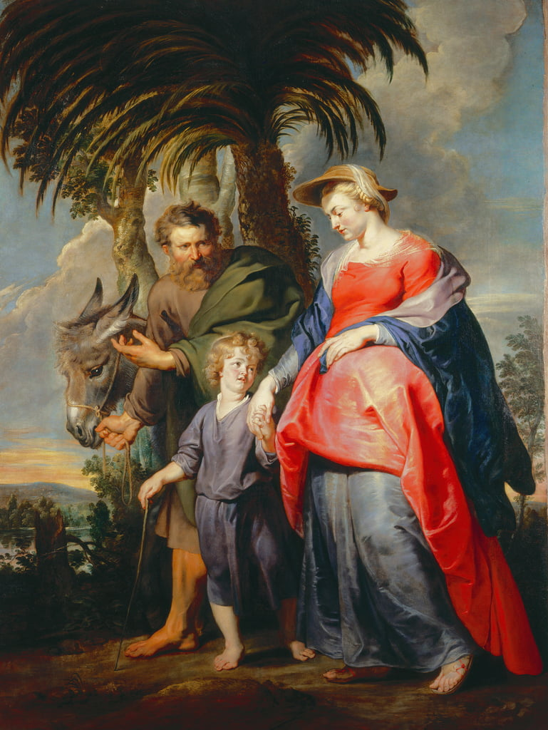 Return of the holy family from Egypt  by Peter Paul Rubens
