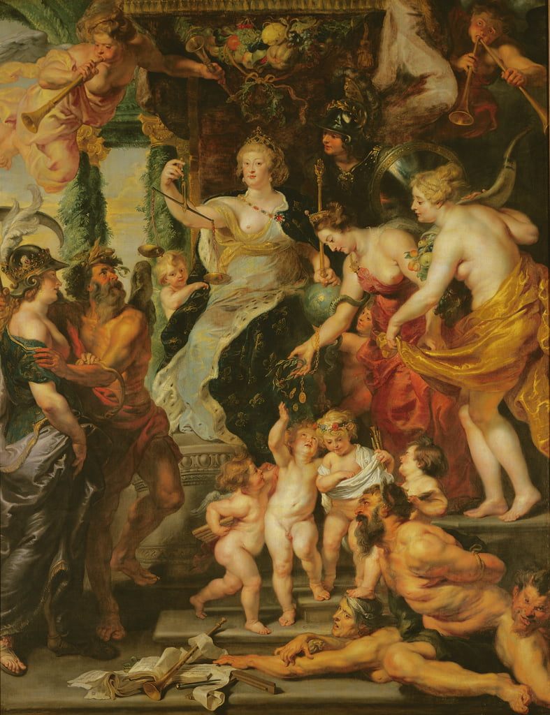 The Felicity of the Regency, 1621-25  by Peter Paul Rubens