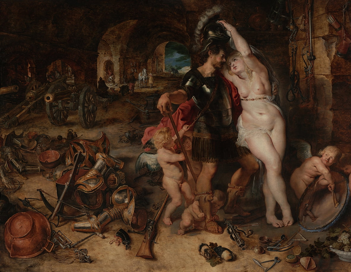 The Return from War- Mars Disarmed by Venus by Peter Paul Rubens