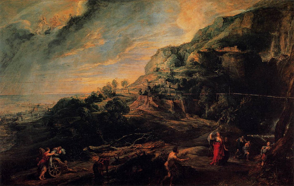 Ulysses and Nausicaa on the Island of the Phaeacians by Peter Paul Rubens