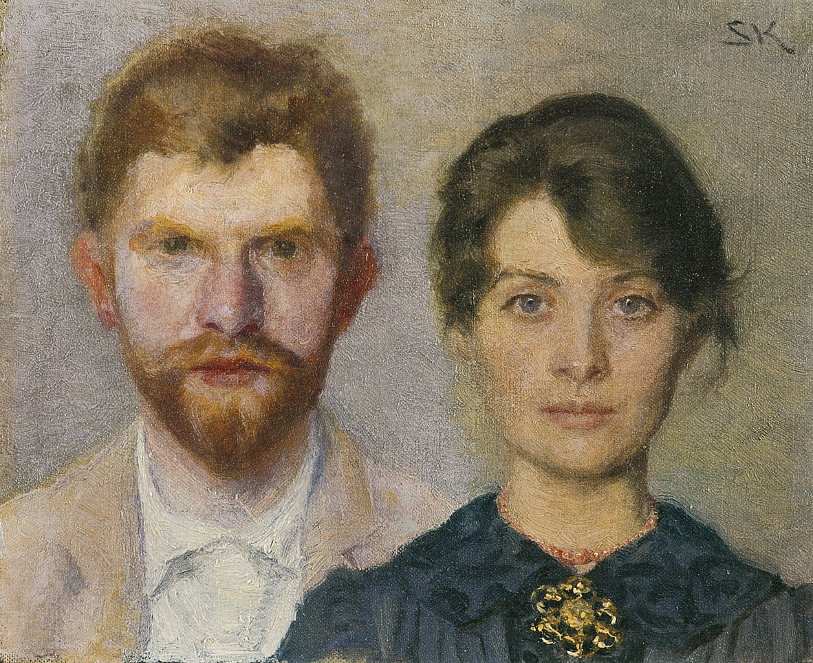 Double-portrait of Marie and P.S. Kroyer by Peder Severin Krøyer