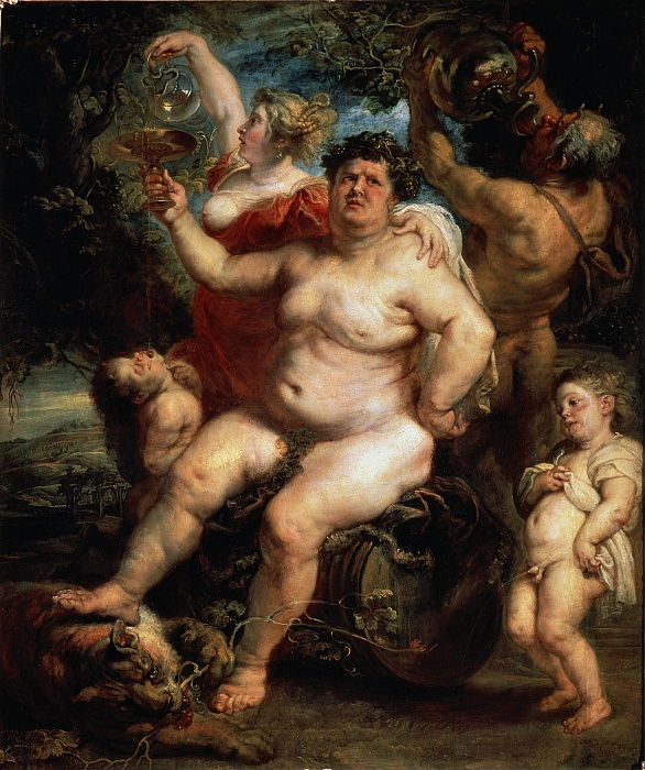 Bacchus, 1638-1640.   by Peter Paul Rubens