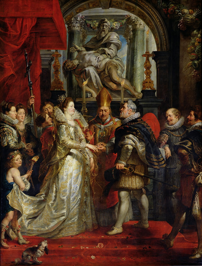 The Proxy Marriage of Marie de Medici (1573-1642) and Henri IV (1573-1642) 5th October 1600, 1621-25  by Peter Paul Rubens
