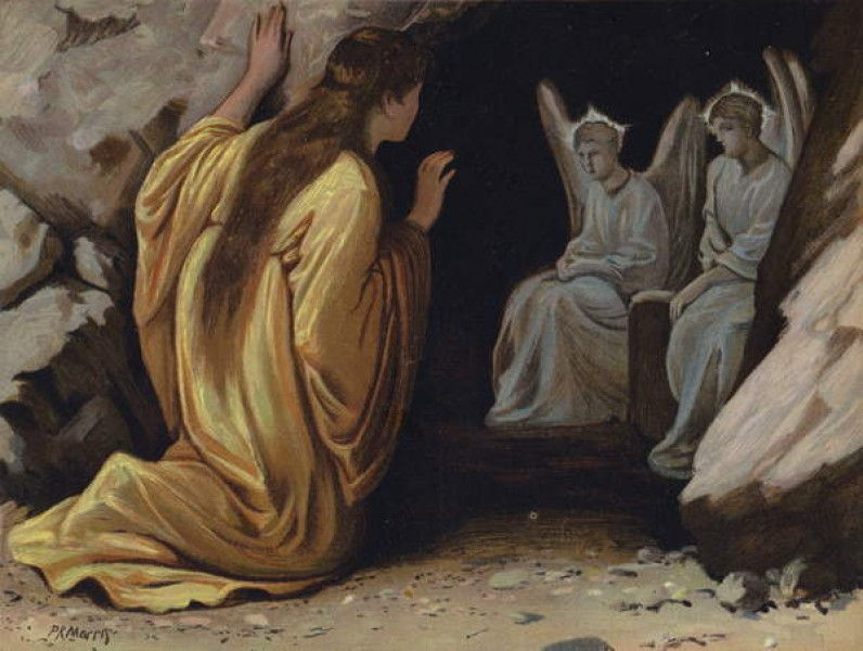 Mary Magdalene at the tomb by Philip Richard Morris