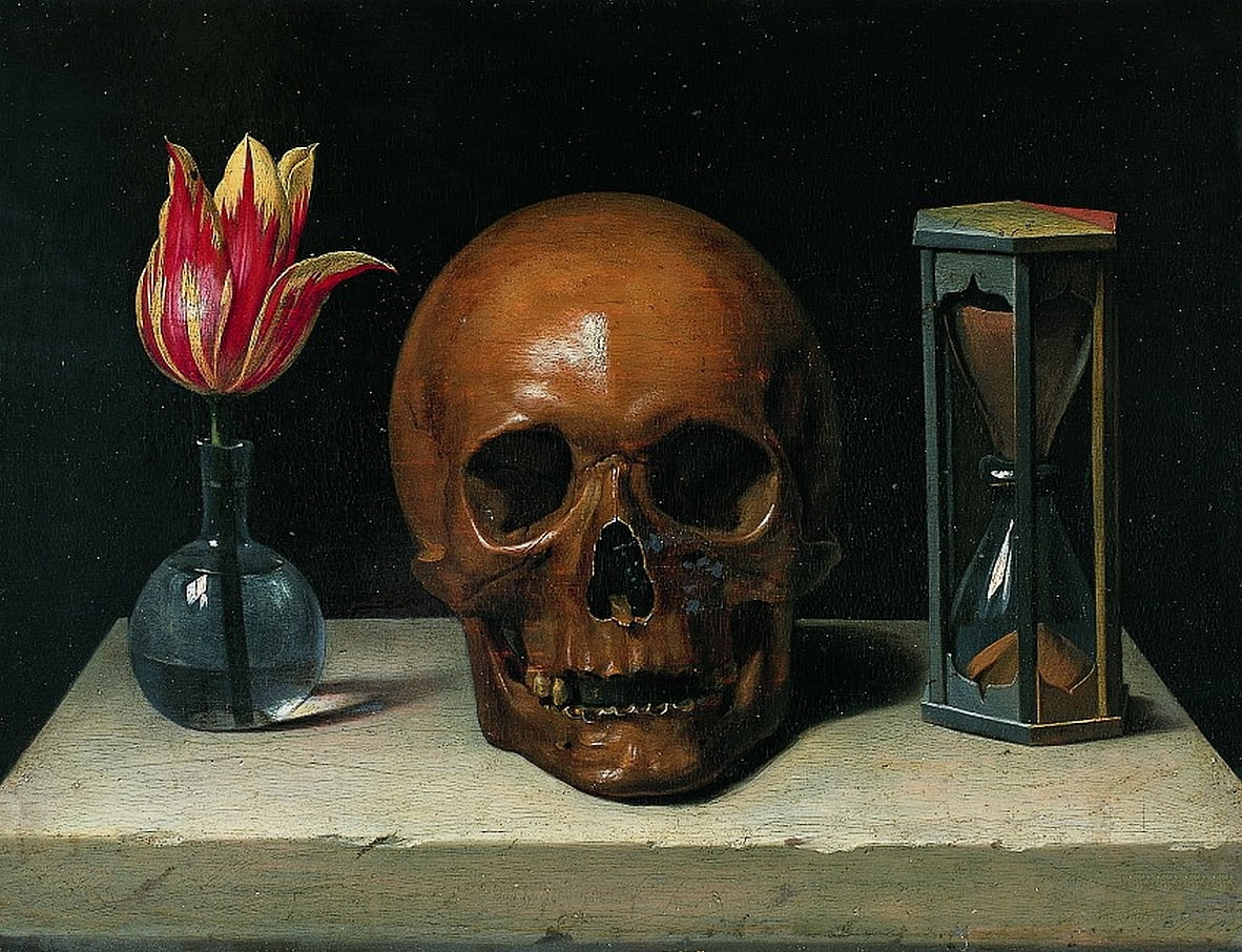 Still-Life with a Skull, vanitas painting by Philippe de Champaigne