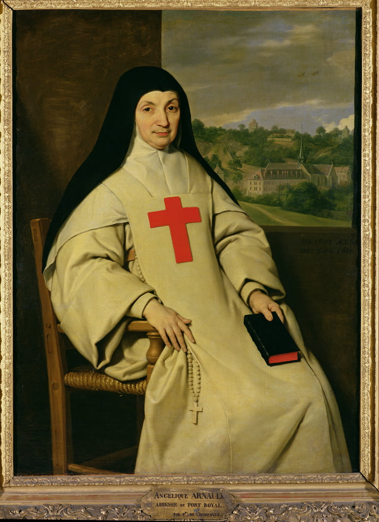 Mother Angelique Arnauld (1591-1661) Abbess of Port-Royal, 1654  by Philippe de Champaigne