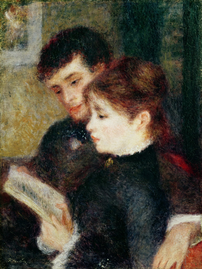 Couple Reading (Edmond Renoir and Marguerite Legrand) by Pierre Auguste Renoir