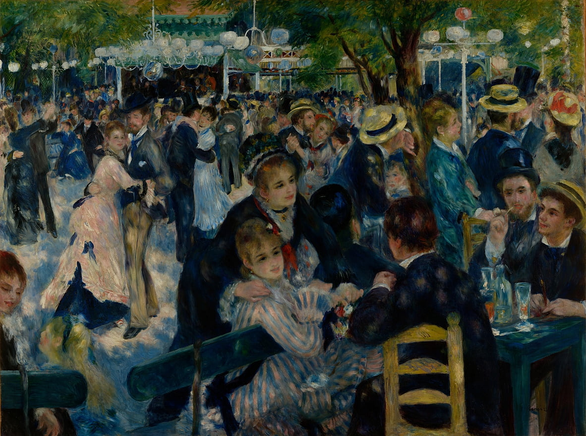 Dance at Le Moulin de la Galette by Pierre Auguste Renoir